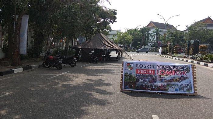Gabungan Komunitas di Pekanbaru Dirikan Posko Bantuan Korban Lombok