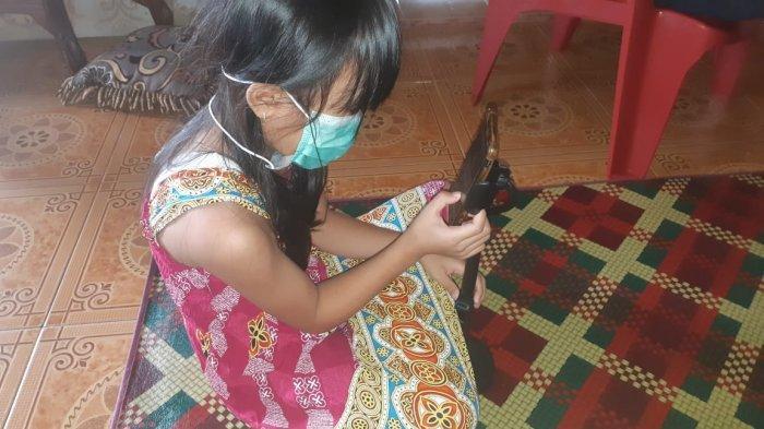 Gebi Gadis Kecil di Bengkalis Inginkan Kado Natal Kesembuhan Ibu dan Keluarganya dari Covid-19