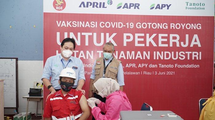 Gelar Vaksinasi Covid-19 Gotong Royong, RAPP Dukung Pemulihan Ekonomi Sektor Hutan Tanaman Industri