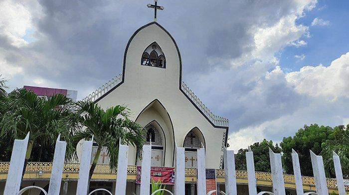 Pascateror Bom Gereja di Makasar, Begini Aktivitas di Gereja Katolik Santa Maria a Fatima Pekanbaru