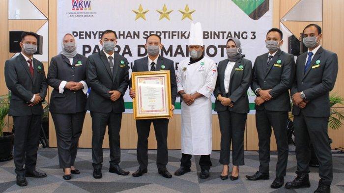 Patra Dumai Hotel Raih Sertifikat Bintang 3, GM Patra Dumai Hotel: Kado Terindah HUT Patra Jasa