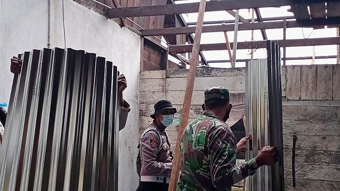 Hempaskan  Rumah, Tumbangkan Pohon dan Rusak Jaringan Listrik, Angin Kencang Terjang Rohul