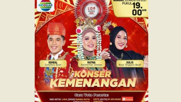 Live Streaming Grand Final LIDA 2021 Malam Ini, Iqhbal Sumbar, Sulis NTB, Ratna Kalsel, Siapa Juara?