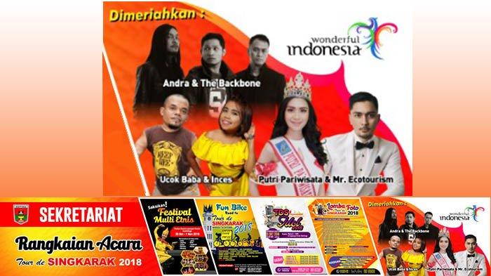 Andra The Backbone dan Ucok Baba Akan Meriahkan Grand Opening Tour de Singkarak 2018 di Bukittinggi