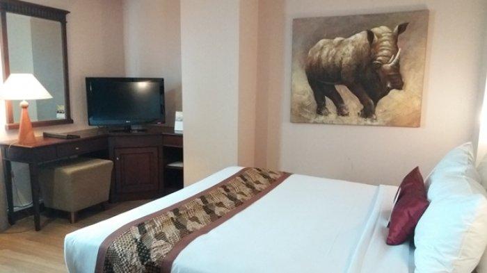Salah satu kamar di Grand Zuri Hotel Pekanbaru, Junior Suite ini hanya ditawari seharga Rp 850 ribu satu malam nya.