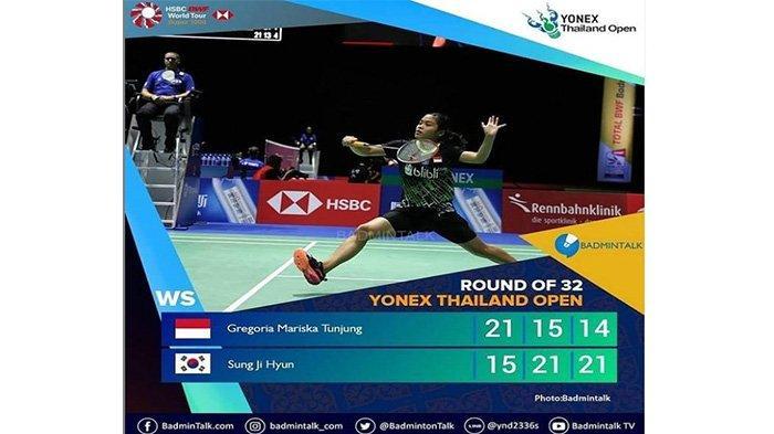 Keok di Hari Pertama Thailand Open 1 2021, Gregoria Mariska Tunjung Kalah, Live Thailand Open I 2021