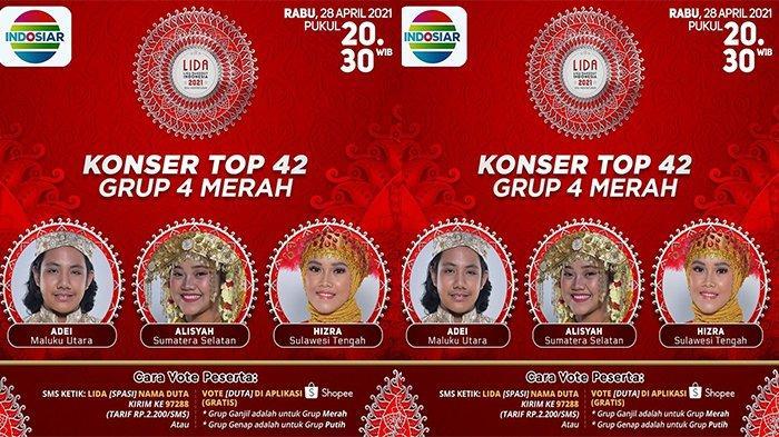 LIDA 2021 Malam Ini, TOP 42 Grup 4 Merah Tampil, Ada Adei, Alisyah dan Hizra, Siapa Tersenggol?
