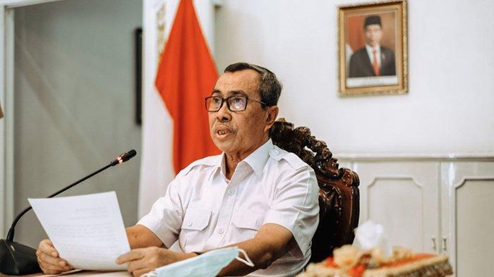 Kasus Covid-19 di Riau Tertinggi Sumatera, Gubernur Riau Syamsuar Meradang, Tegur Bupati & Walikota