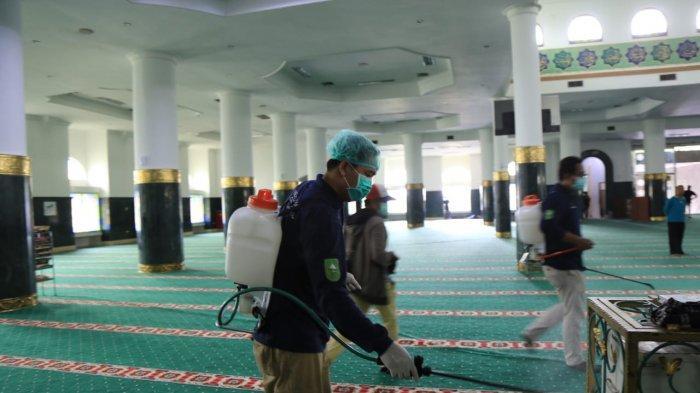 Dampak Virus Corona,Shalat Zuhur Berjamaah di Masjid Agung An Nur Ditiadakan,Waktu Ashar Dibuka Lagi