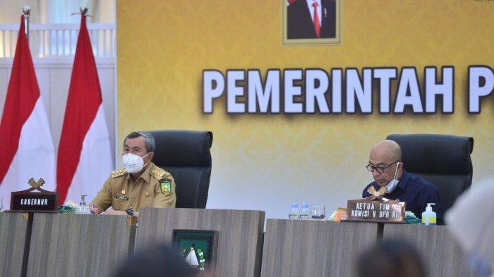 Gubri Syamsuar gelar pertemuan dengan Komisi V DPR RI bahas rencana pembangunan infrastruktur di Riau.