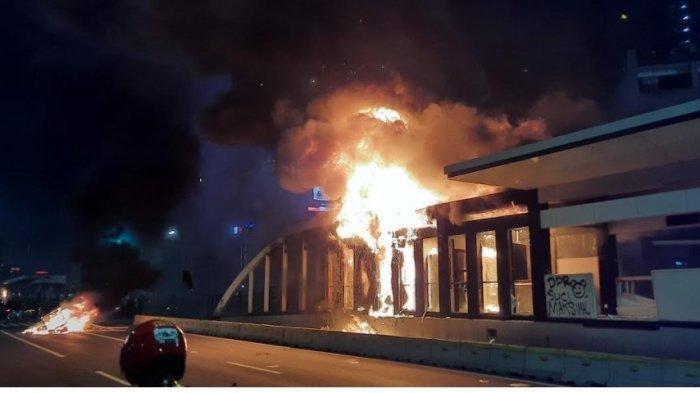 Unjuk Rasa di Jakarta, Gedung Kementerian ESDM Dirusak dan Halte Dibakar, 1000 Orang Ditangkap