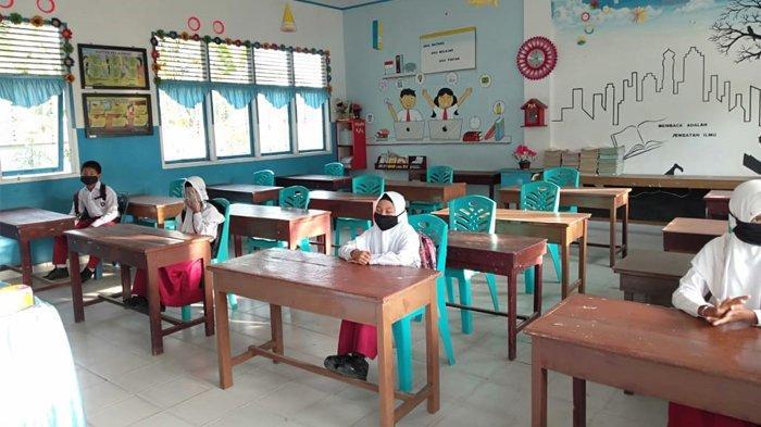 SDN 50 Bengkalis Mulai Uji Coba Pelaksanaan Pembelajaran Tatap Muka Untuk Kelas Enam