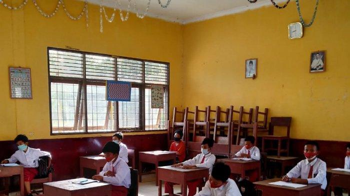 Hari Perdana Belajar Tatap Muka di Pelalawan, Kehadiran Siswa Mendekati 100 Persen