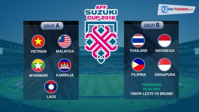 Jadwal Lengkap Piala AFF 2018, Inilah Lawan Timnas Indonesia di Grup B, Singapura Lawan Perdana