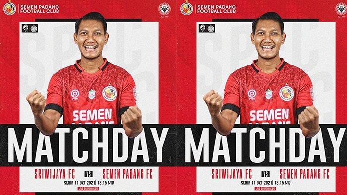 Live Liga 2 2021 Sriwijaya FC vs Semen Padang FC, Laga Emosional Bagi Gelandang SPFC Manda Cingi