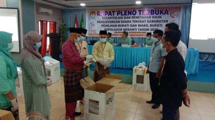 Hasil Pleno Rekapitulasi Pilkada Kepulauan Meranti 2020, M Adil-Asmar Unggul Jauh dari Saingannya