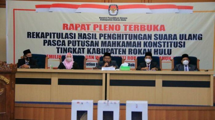 Hasil PSU Rohul, Pleno KPU Rohul Nyatakan Sukiman-Indra Gunawan Sebagai Pemenang