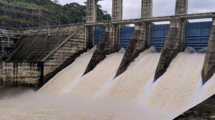 Permukaan Air Waduk Mulai Berkurang, PLTA Koto Panjang Kampar Tutup Kembali Empat Pintu Air