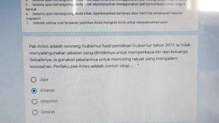 Kepada Guru Pembuat Soal 'Anies Diejek Mega', Ketua DPRD DKI: Apa yang di Otak Bapak?