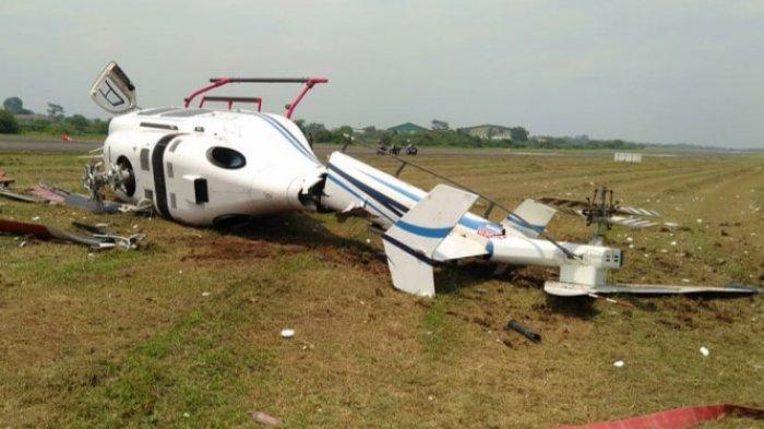 Helikopter Kemenhub Terguling di Landasan Curug,Angkut 3 Orang, Kondisi Pilot, Co Pilot dan Teknisi?
