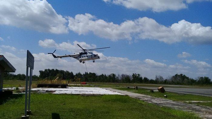 Titik Api Mulai Muncul, Sejumlah Helikopter Isi Bahan Bakar di Pinang Kampai
