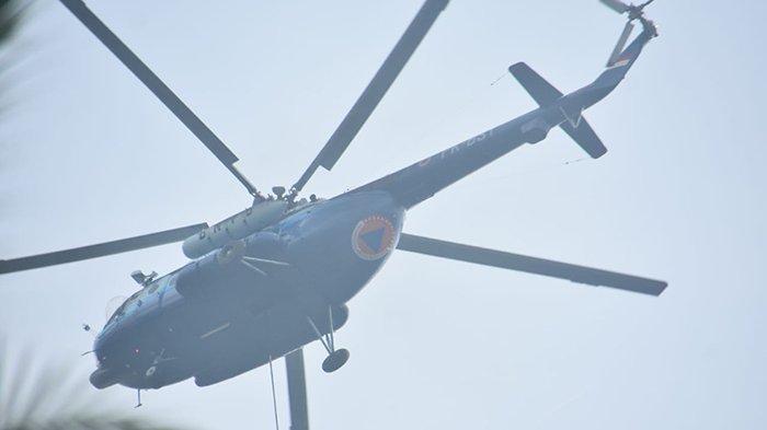 Heli Bom Air Libas Titik Api,Petugas Pindah ke Teluk Beringin dari Teluk Dalam,Karhutla di Pelalawan