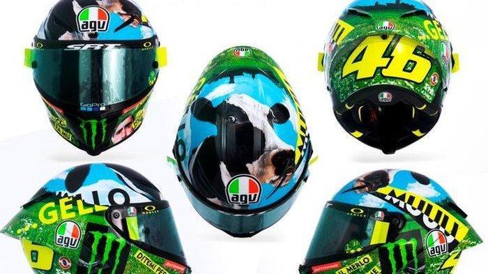 MotoGP 2021: Valentino Rossi Pakai Helm Baru di Moto GP Italia, Disain yang Nyeleneh