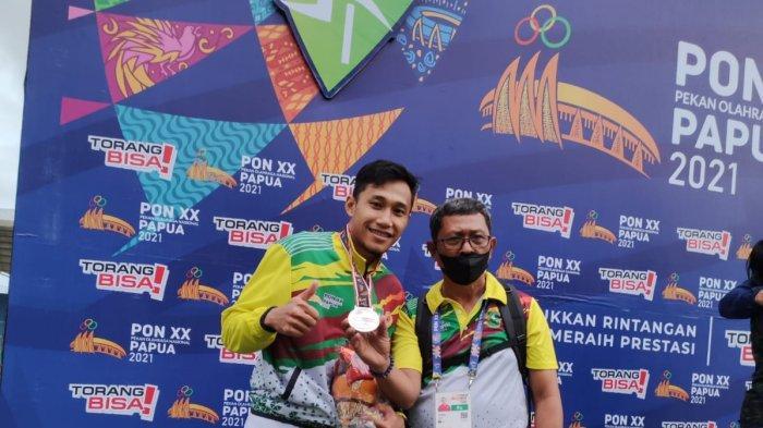 Riau Tambah Perak di PON 2021 Papua dari Lari Gawang 110 M Lewat Atlet Hirza Rahmadon