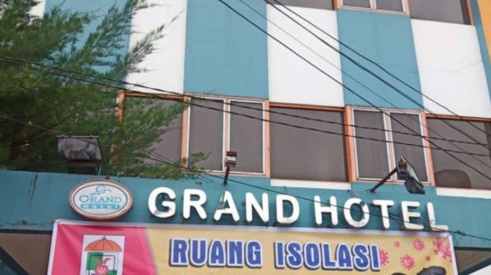 Hotel Grand Pangkalan Kerinci dioperasikan sebagai tempat isolasi mandiri pasien positif Covid-19 berstatus OTG