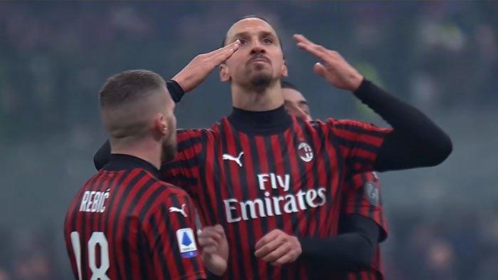 Ibrahimovic Cetak 2 Gol, AC Milan vs Crotone Berakhir 4-0, Milan kembali ke Puncak Klasemen