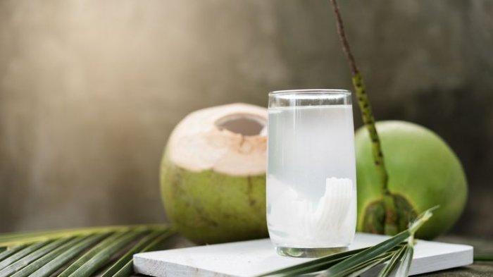 Ilustrasi air kelapa dan kesembuhan pasien Covid-19, manfaat air kelapa.