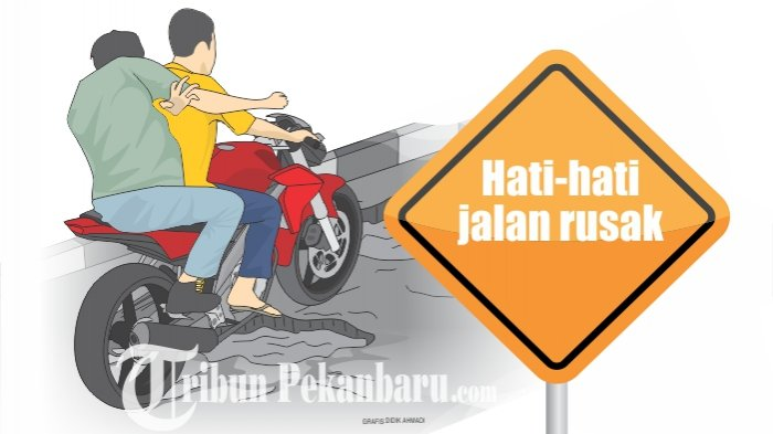 Warga Mengadu Banyak Jalan Berlubang di Pangkalan Kerinci, Dinas PUPR Harus Lakukan Perawatan Jalan