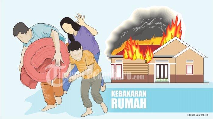 Untung Sang Cucu Tak Tidur di Lokasi Kebakaran,Ditinggal Jaga Malam Rumah Puguh Hangus Tinggal Puing