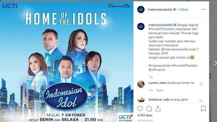 Tonton Siaran Langsung Indonesian Idol 2019 Live RCTI di Sini (LINK LIVE STREAMING)