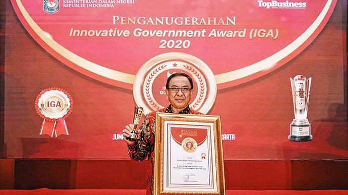 Angkat Jempol, Indragiri Hilir Dinobatkan Sebagai Kabupaten Sangat Inovatif Dalam IGA 2020