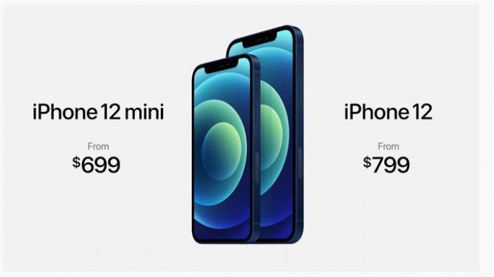 iPhone 12 Mini dan iPhone 12 versi reguler saat peluncuran
