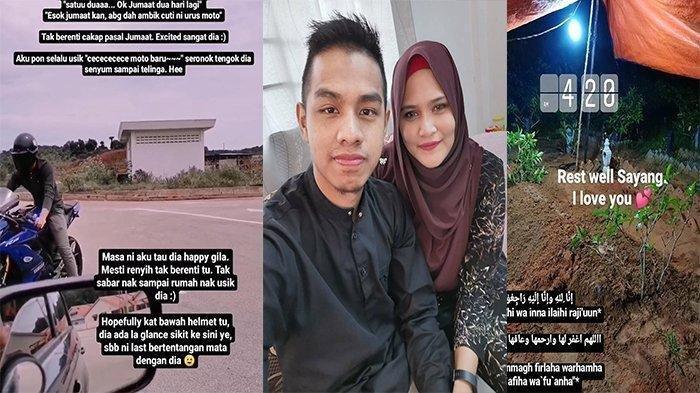Istri Tak Sengaja Rekam Detik-detik Suaminya Kecelakaan Motor, Sang Suami Tewas Bersimbah Darah
