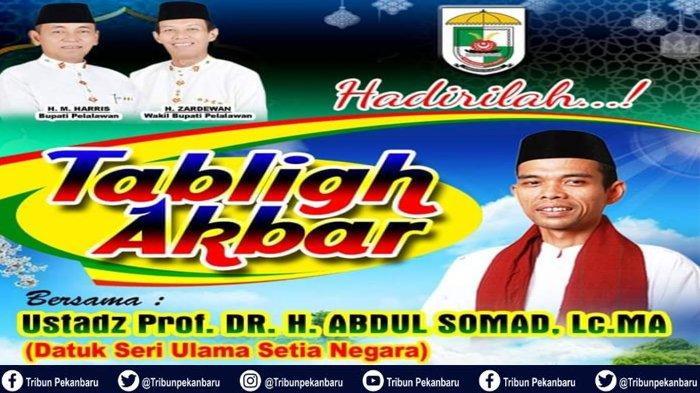 JADWAL Ceramah Ustadz Abdul Somad di Riau, Hari Selasa Ceramah di Pelalawan dan Suku Talang Mamak