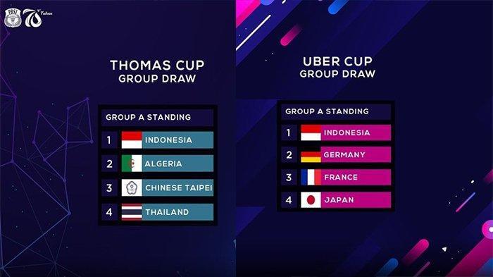 JADWAL & Live Streaming Badminton Thomas dan Uber Cup 2021 di TVRI