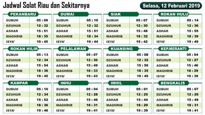 VIDEO: Jadwal Sholat Hari ini Untuk Wilayah Riau dan ...