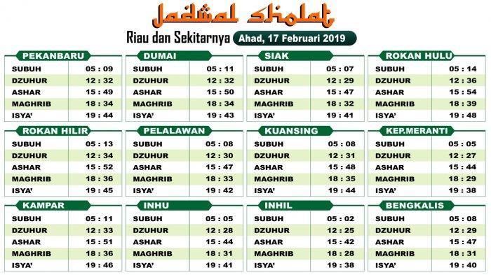 VIDEO: Jadwal Sholat Hari ini Untuk Riau dan Sekitarnya ...