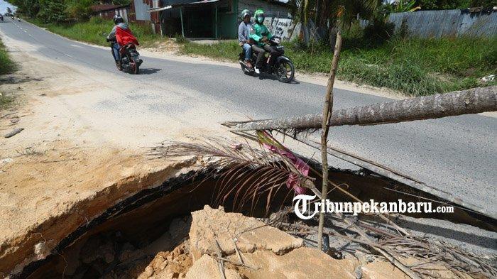 BERITA FOTO: Kondisi Jalan Rusak di Palas Pekanbaru Bahayakan Pengendara - jalan-rusak-palas3.jpg