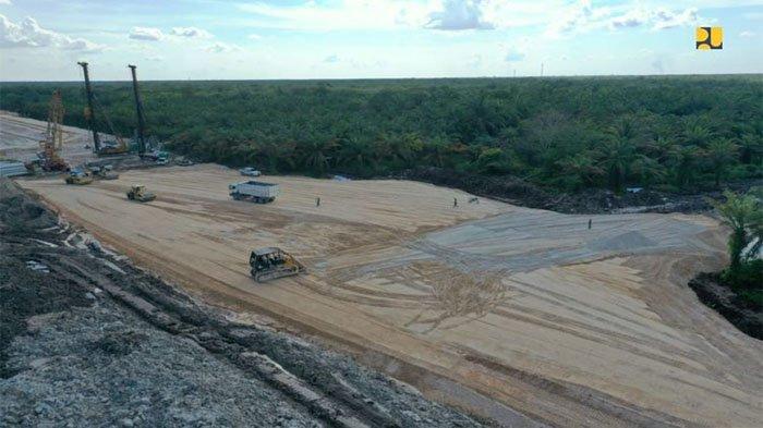 Pemprov Riau Tinjau Patok Pembangunan Jalan Tol Rengat-Jambi