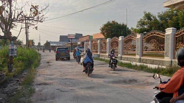 Jalan Rusak di Kampar, Jalan Teropong Sudah Lama Belum Tidak Tersentuh Perbaikan