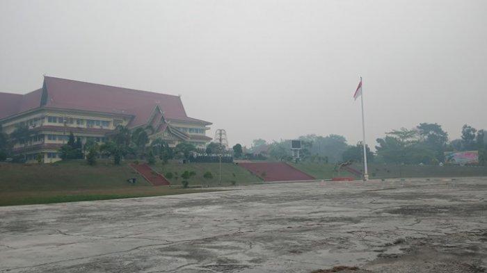 Jarak Pandang Hanya 300 Meter dan Warga Mengeluh Sesak, Kabut Asap di Pelalawan Riau Masuk ke Rumah