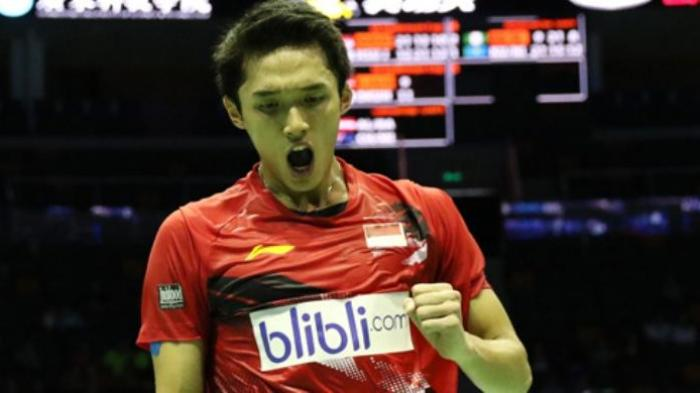 Hasil Final Bulutangkis Asian Games 2018: Jonathan Menangi Set Pertama, 21-18