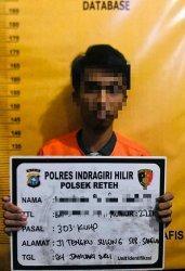 Pelaku judi yang diamankan di wilayah hukum Polres Inhil, Riau.