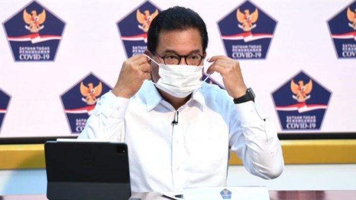 Juru Bicara Satgas Penanganan Covid-19 Prof Wiku Adisasmito saat memberi keterangan pers perkembangan penanganan Covid-19 di Istana Kepresidenan Jakarta, Selasa (8/12/2020).
