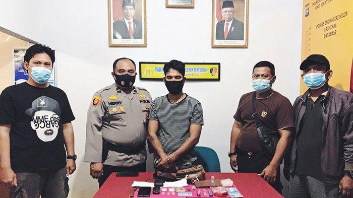 Simpan Sabu-sabu di Lipatan Tisu, Pria 34 Tahun Digelandang ke Mapolsek Gaung Riau