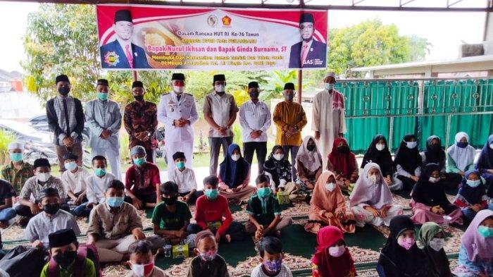 Kado HUT RI ke-76, 2 Anggota DPRD Pekanbaru Launching Rumah Tahfiz Saat Detik-detik Proklamasi